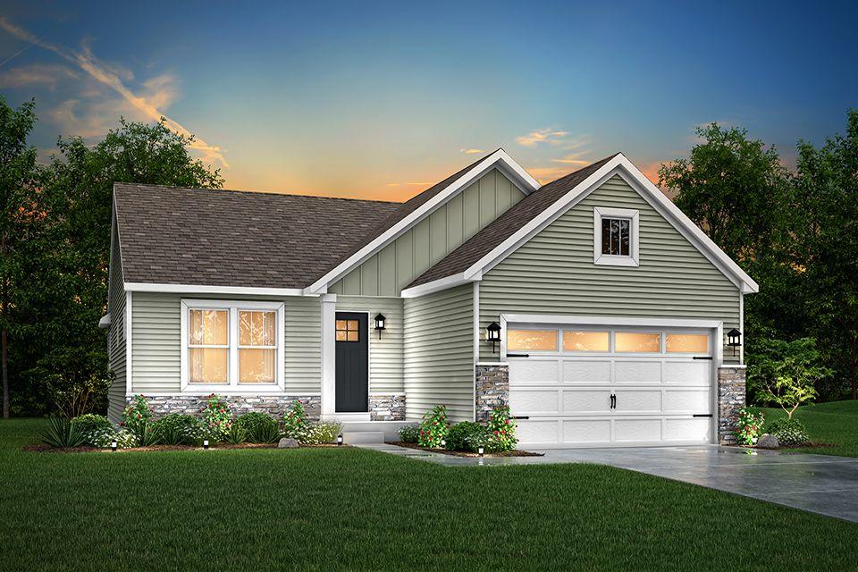 Exterior featured in the Elements 1400 By Allen Edwin Homes in Kalamazoo-Battle Creek, MI