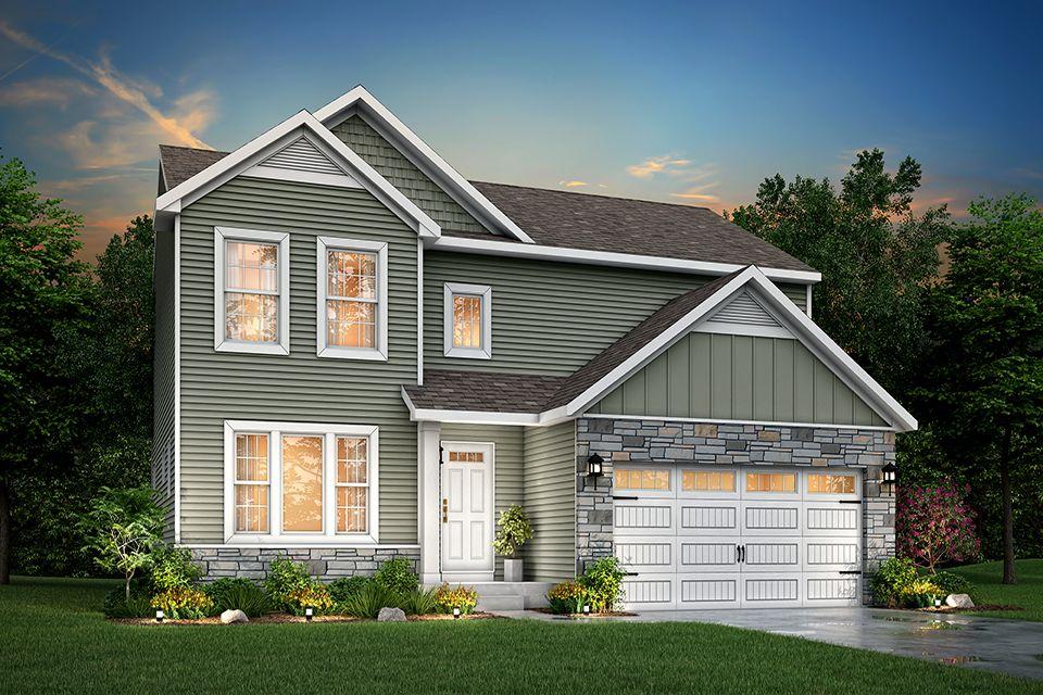 Exterior featured in the Elements 2070 By Allen Edwin Homes in Kalamazoo-Battle Creek, MI