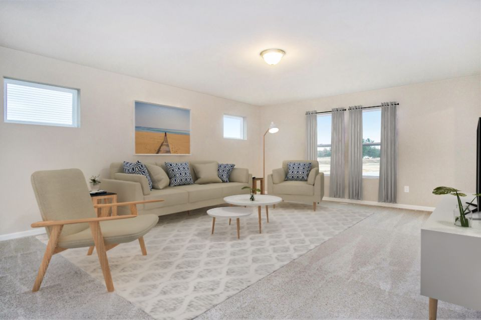 Living Area featured in the Elements 2070 By Allen Edwin Homes in Detroit, MI