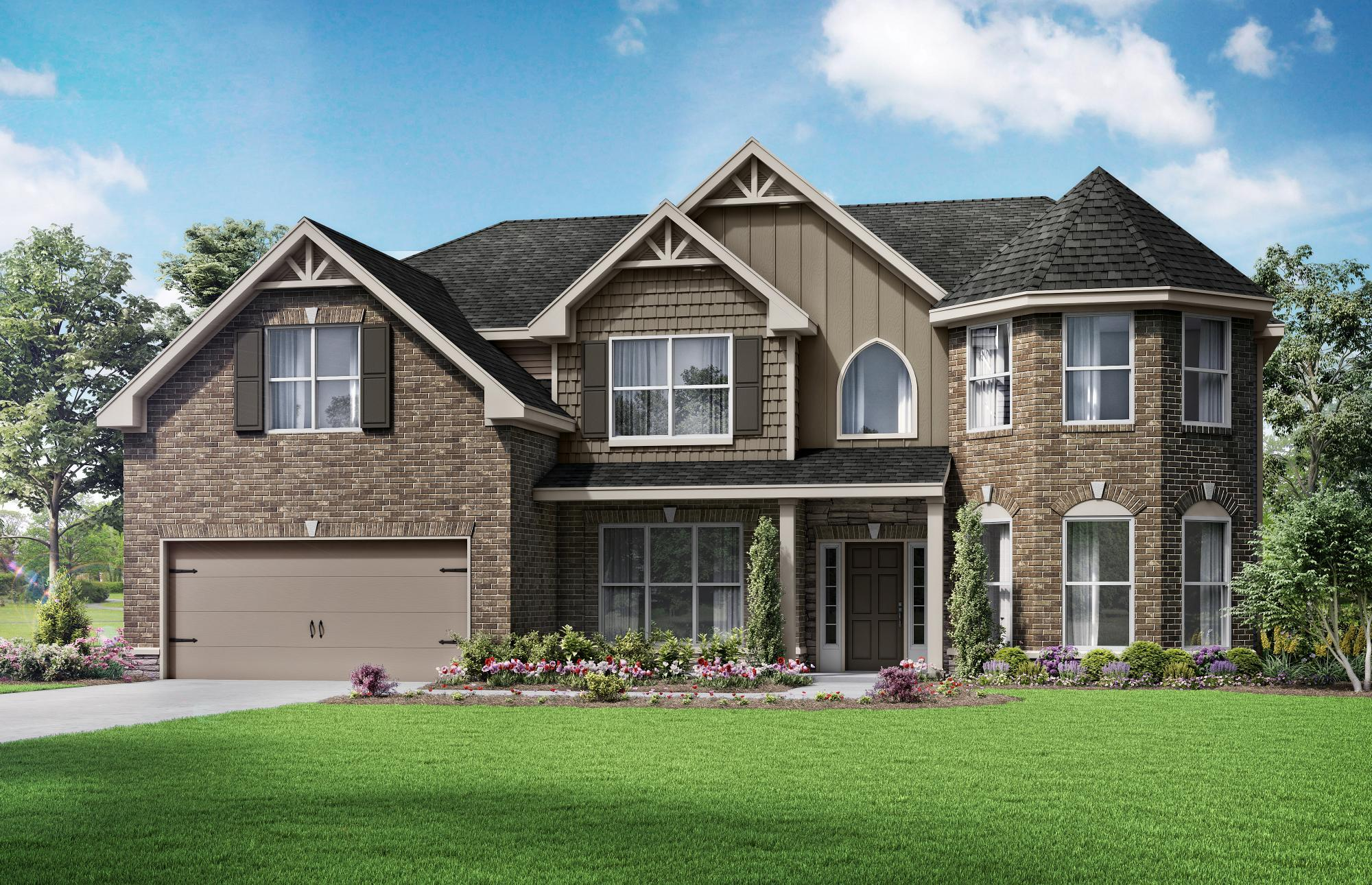 Exterior featured in The Charleston By Almont Homes in Atlanta, GA