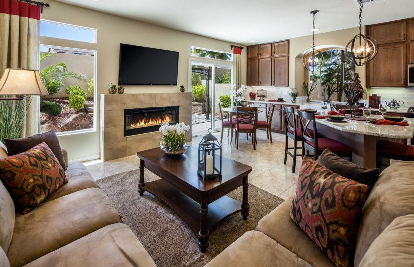 Living Area featured in the Plan 2689 By AmericanWest Homes in Las Vegas, NV