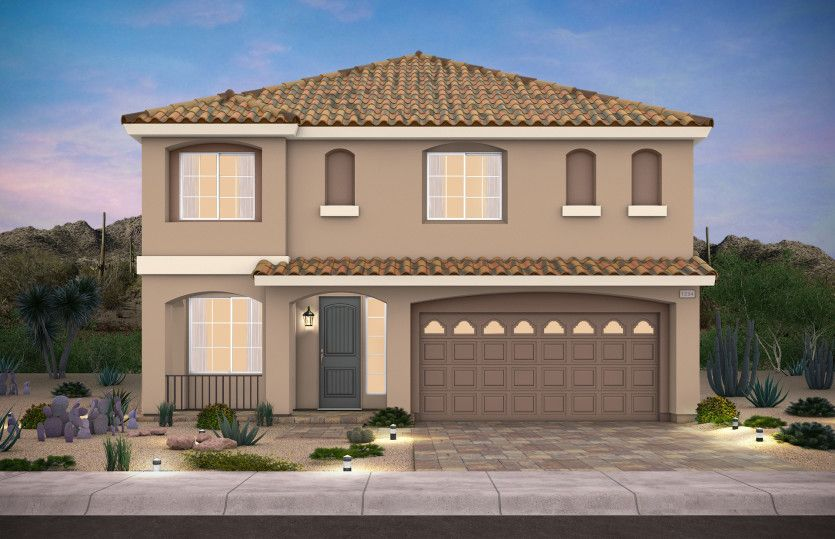 Exterior featured in the Plan 2927 By AmericanWest Homes in Las Vegas, NV