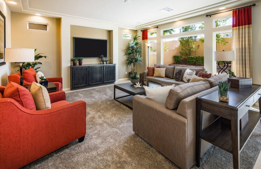 Living Area featured in the Plan 3019 By AmericanWest Homes in Las Vegas, NV