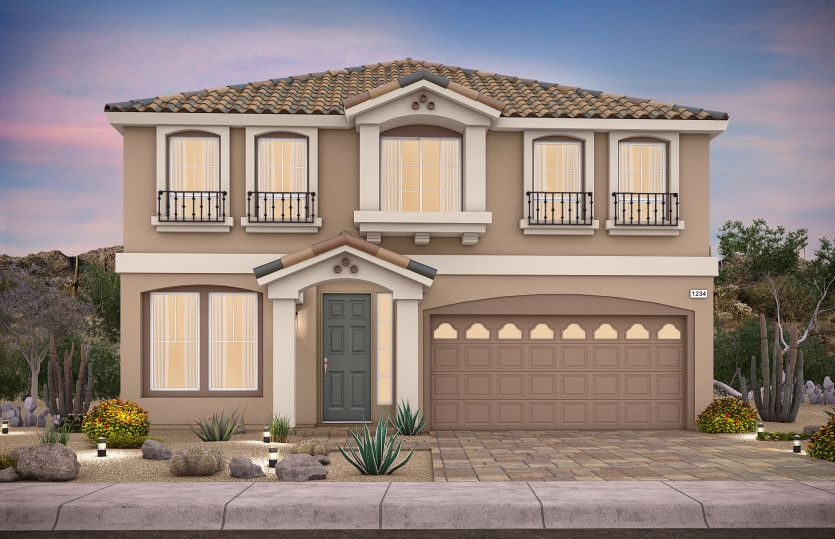 Exterior featured in the Plan 3019 By AmericanWest Homes in Las Vegas, NV