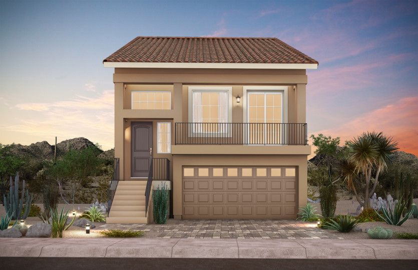 Exterior featured in The Cartier By AmericanWest Homes in Las Vegas, NV
