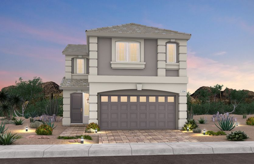Exterior featured in the Plan 2200 By AmericanWest Homes in Las Vegas, NV