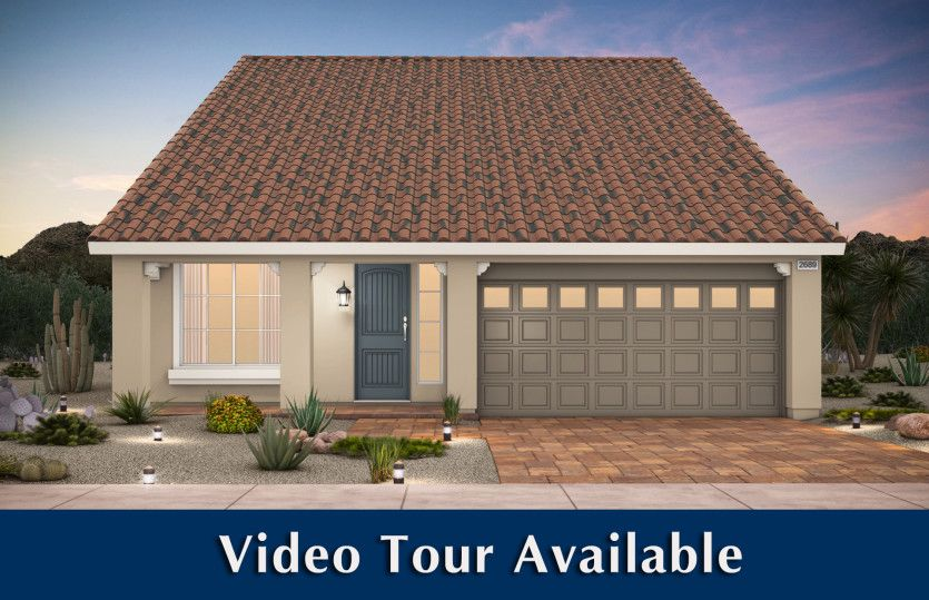 Exterior featured in the Plan 2689 By AmericanWest Homes in Las Vegas, NV