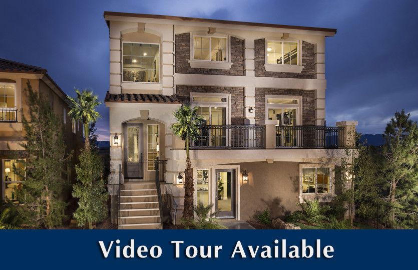 Exterior featured in the Plan 3990 By AmericanWest Homes in Las Vegas, NV