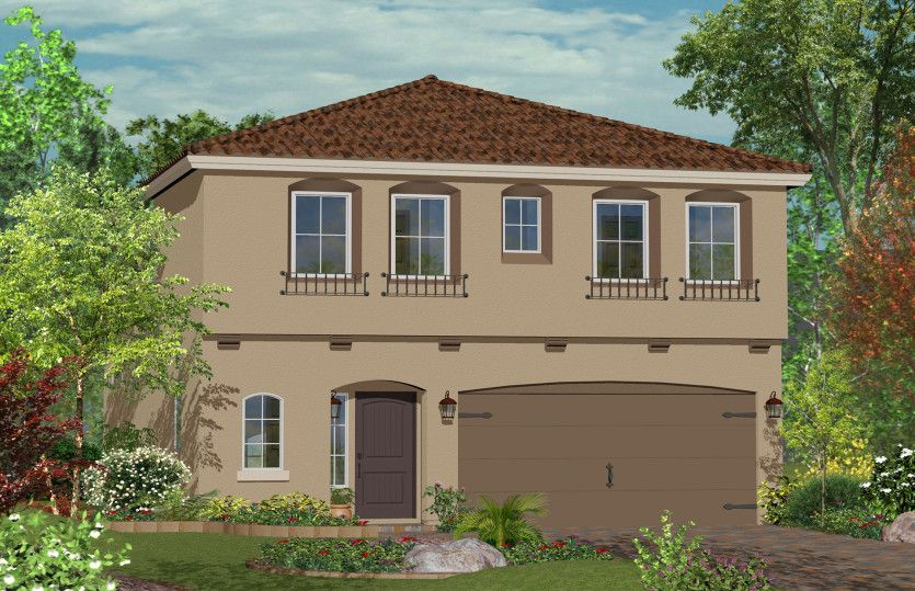 Exterior featured in the Plan 2033 By AmericanWest Homes in Las Vegas, NV