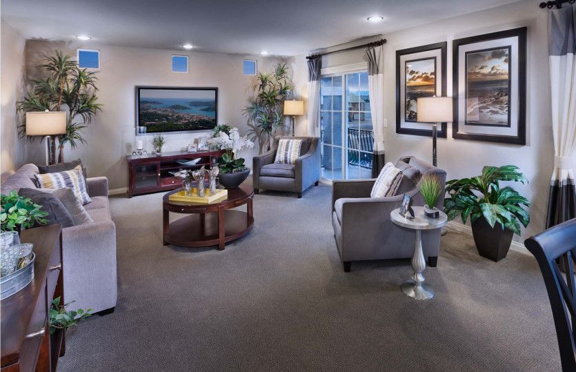 Living Area featured in the Plan 2958 By AmericanWest Homes in Las Vegas, NV
