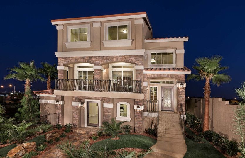 Exterior featured in the Plan 3026 By AmericanWest Homes in Las Vegas, NV