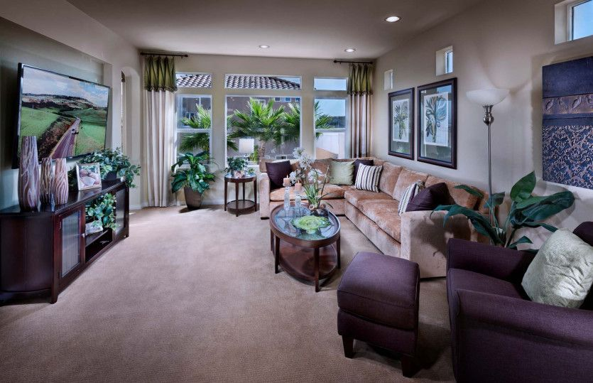 Living Area featured in the Plan 3026 By AmericanWest Homes in Las Vegas, NV