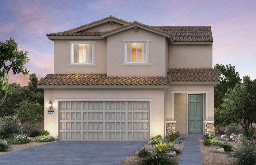 Exterior featured in the Springfield By AmericanWest Homes in Las Vegas, NV