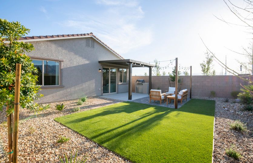Exterior featured in the Hewitt By AmericanWest Homes in Las Vegas, NV