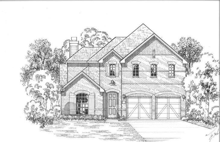 Exterior:Plan 1504 Elevation D
