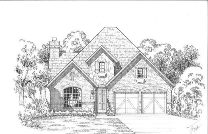 Exterior:Plan 1161 Elevation D