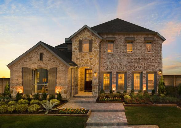 Union Park 50s Model Plan 1504 Front Elevation by American Legend Homes