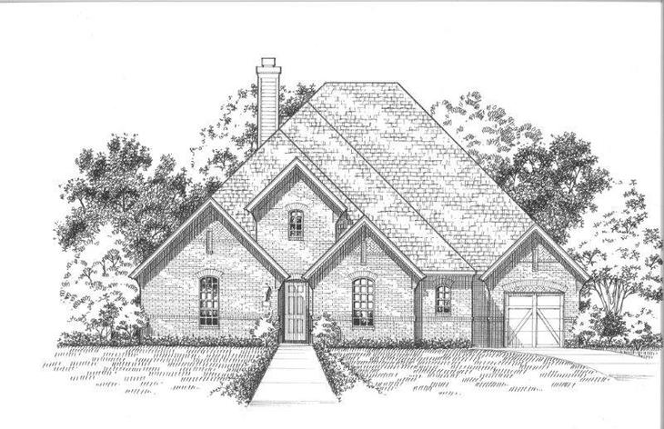 Exterior:Plan 826 Elevation A