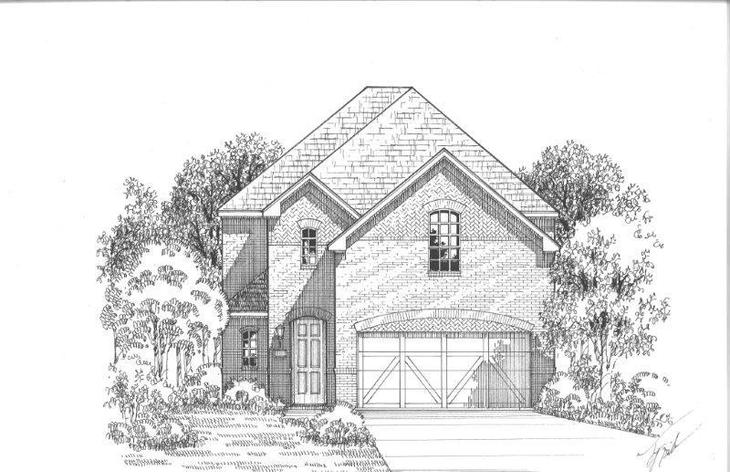 Exterior:Plan 1185 Elevation A