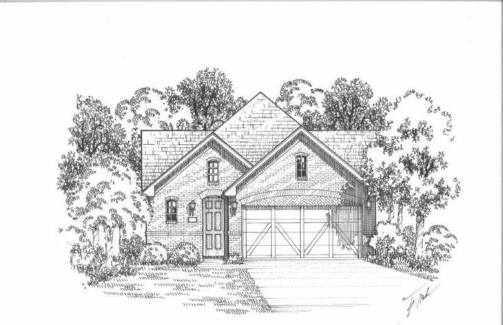 Exterior:Plan 1190 Elevation A