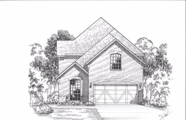 Exterior:Plan 1193 Elevation A