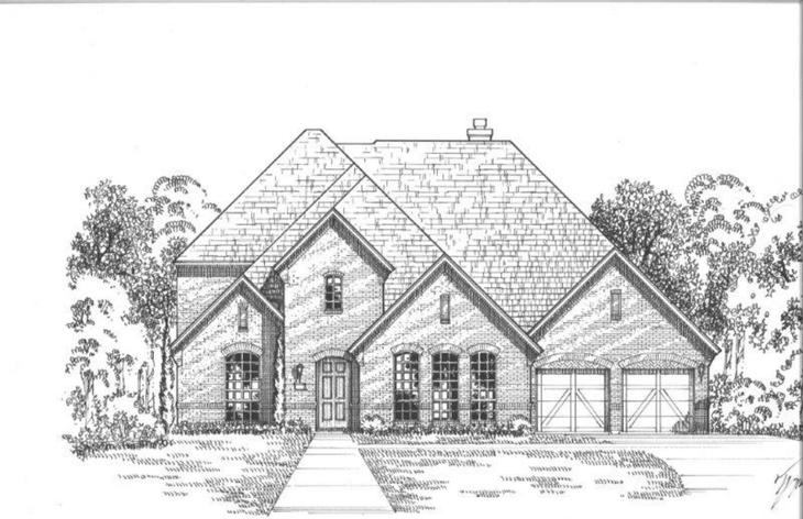 Exterior:Plan 834 Elevation A