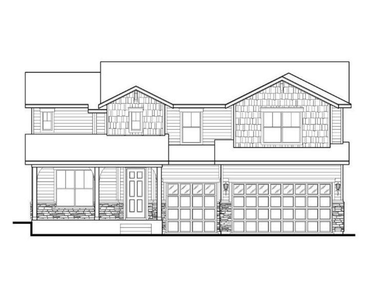 Exterior:Plan C506 Elevation A
