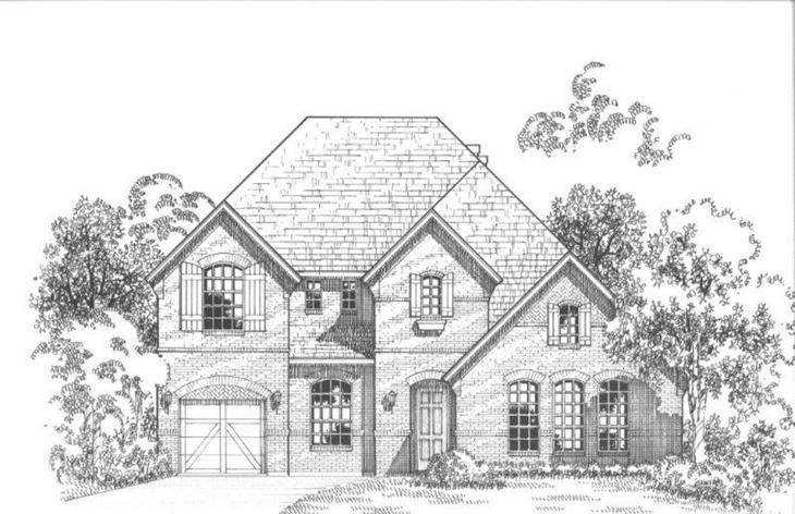 Exterior:Plan 694 Elevation A