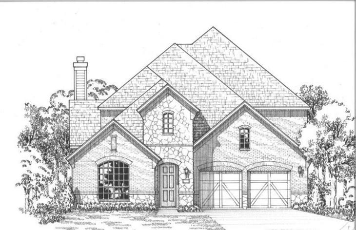 Exterior:3960 Sweet Clover Elevation A w/ Stone