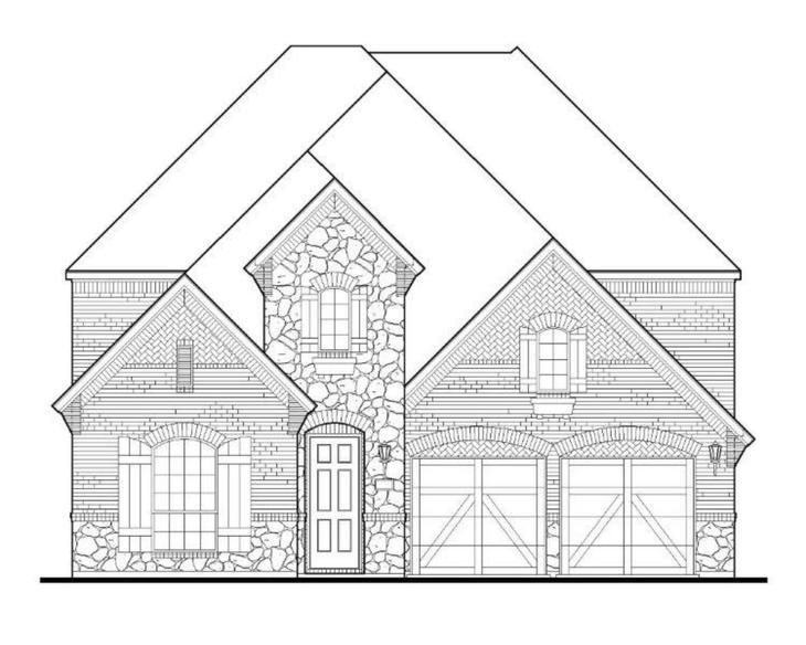 Exterior:Plan 1518 Elevation D