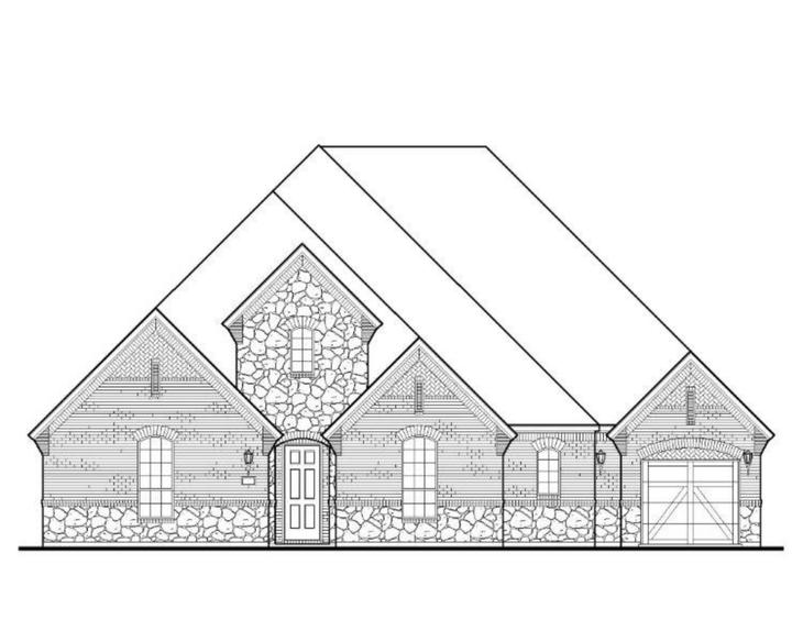 Exterior:350 Providence Elevation A w/ Stone