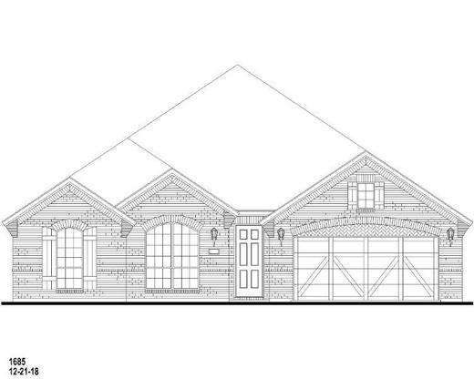 Exterior:Plan 1685 Elevation A