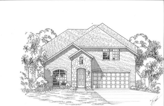 Exterior:12248 Beatrice Elevation A w/ Stone