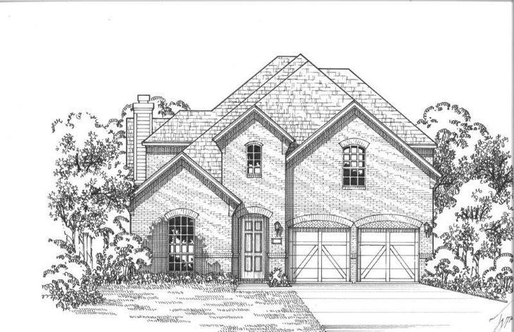 Exterior:Plan 1195 Elevation A