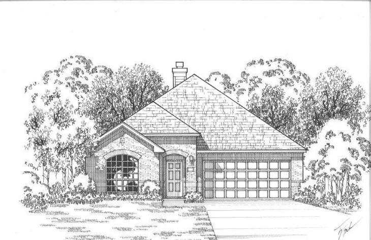 Exterior:Plan 1152 Elevation A