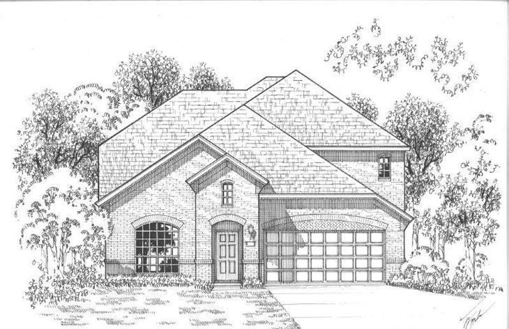 Exterior:Plan 1157 Elevation A