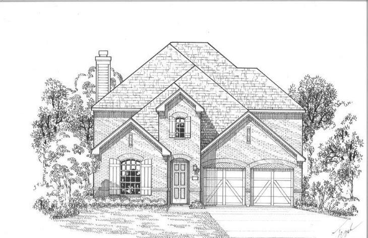 Exterior:Plan 1509 Elevation A