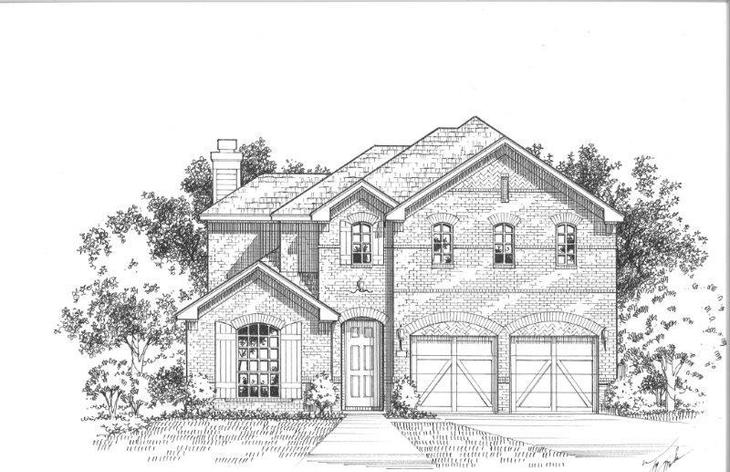 Exterior:Plan 1504 Elevation A