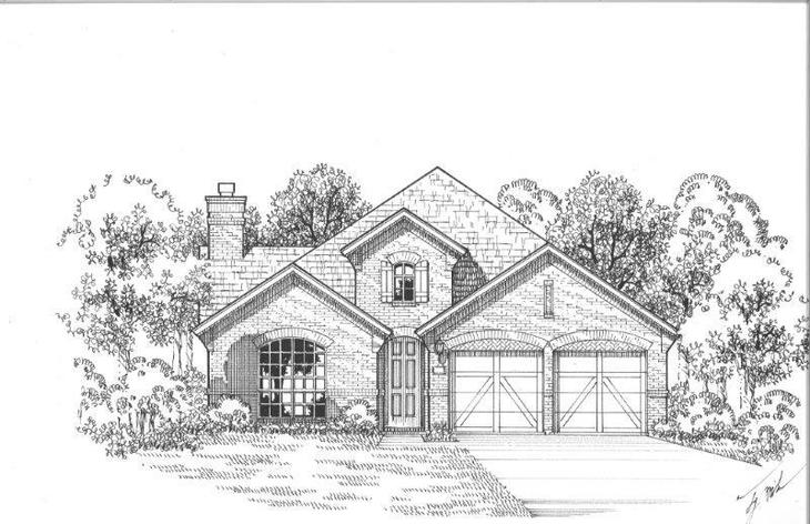 Exterior:Plan 1510 Elevation A