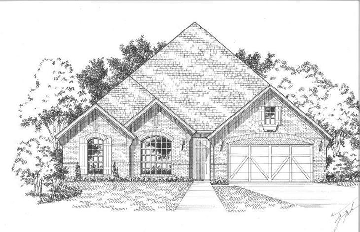Exterior:Plan 1602 Elevation A