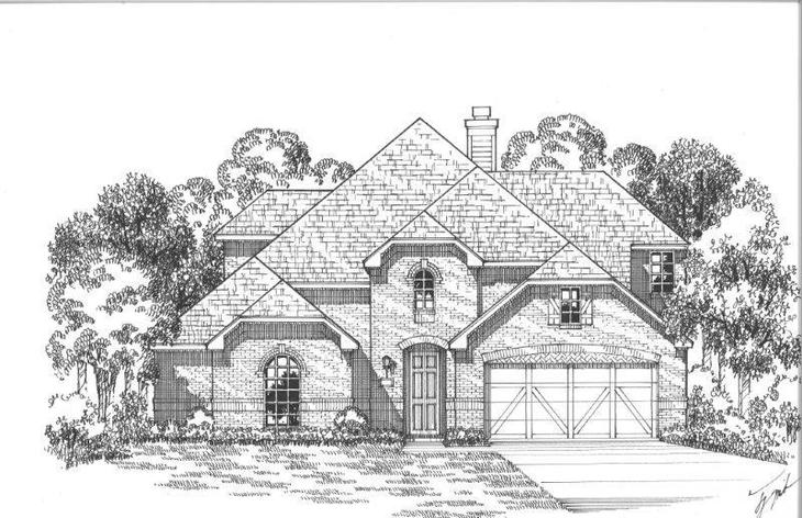 Exterior:Plan 1605 Elevation A