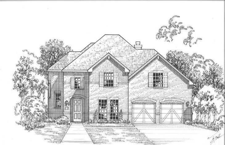 Exterior:Plan 1607 Elevation A