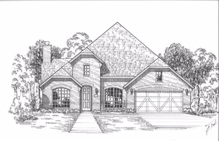 Exterior:Plan 1619 Elevation A