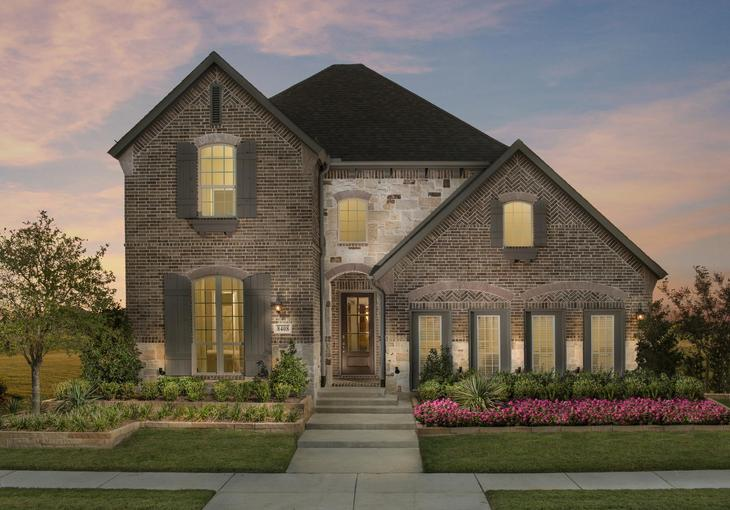 The Tribute Westbury Model Plan 1163 Front Elevation by American Legend Homes