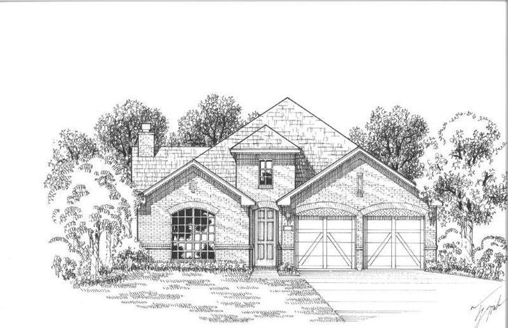 Exterior:Plan 1502 Elevation A