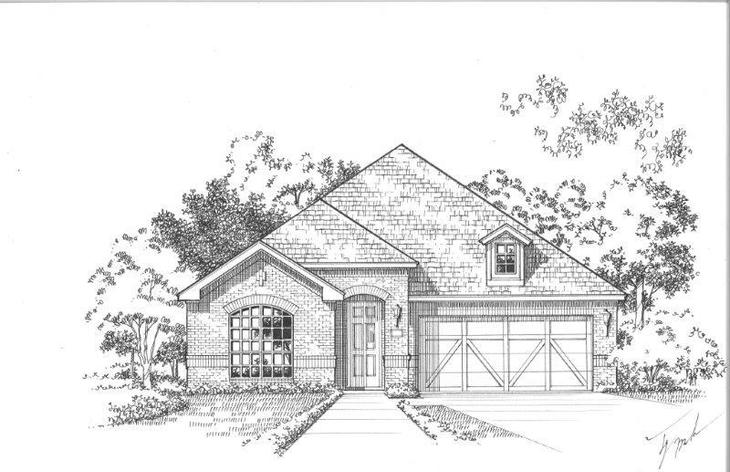 Exterior:Plan 1508 Elevation A