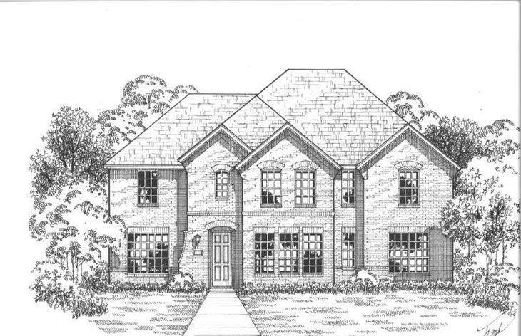 Exterior:Plan 1612 Elevation A