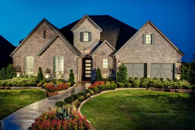 Lilyana 74s Model Plan 1705 Front Side Elevation by American Legend Homes