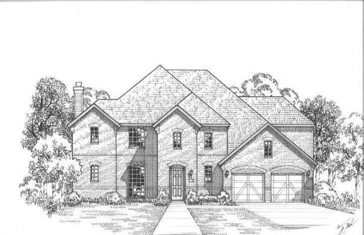 Exterior:Plan 1709 Elevation A