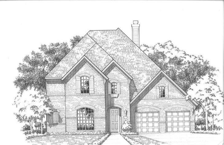 Exterior:Plan 698 Elevation A
